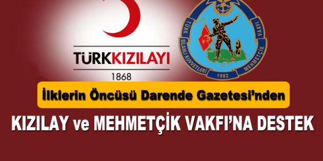 Darende Gazetesi'nden Kızılay ve Mehmetçik Vakfı'na Destek