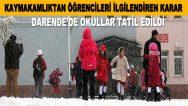 Darende'de Bugün Okullar Tatil!