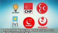 Darende Belediye Başkan Adayları ve Meclis Üyeleri Listeleri Tam Liste