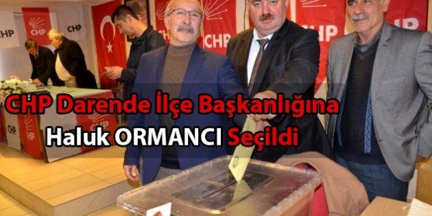 CHP Darende İlçe Başkanlığı'na Haluk ORMANCI Seçildi