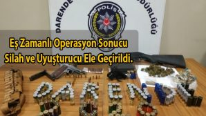 Darende Emniyeti'nden Silah ve Uyuşturucu Operasyonu